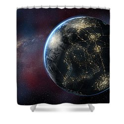 Earth One Day Shower Curtain by David Collins