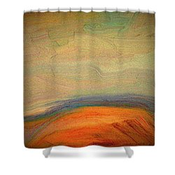 Earth Sets The Table Shower Curtain