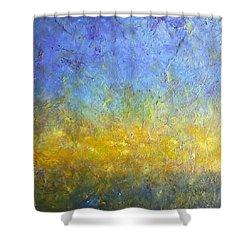 Earth Vibration Shower Curtain