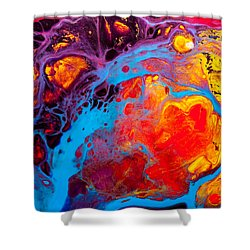 Earth Water Wind Fire - Abstract Painting Shower Curtain