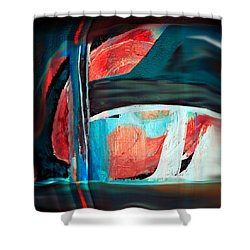Contrast And Concept Shower Curtain