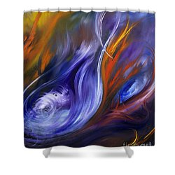 Earth, Wind And Fire Shower Curtain by Valerie Travers