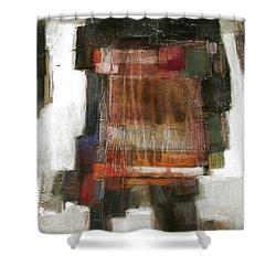 Orange Home Shower Curtain by Behzad Sohrabi