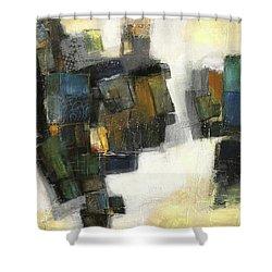 Lemon And Tiles Shower Curtain by Behzad Sohrabi