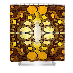 Earthly Awareness Abstract Organic Artwork By Omaste Witkowski Shower Curtain