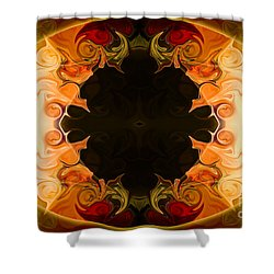 Shower Curtain featuring the digital art Earthly Undecided Bliss Abstract Organic Art By Omaste Witkowski by Omaste Witkowski