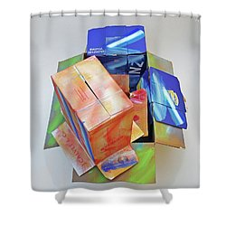 Earthquake 2 Shower Curtain by Charles Stuart