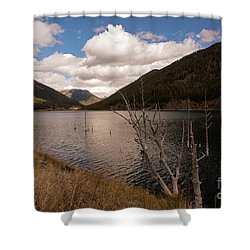 Earthquake Lake Shower Curtain by Cindy Murphy - NightVisions