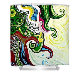 Earths Tears Shower Curtain by Genevieve Esson
