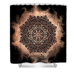 Earthy Mandala Shower Curtain