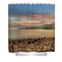 Shower Curtain featuring the photograph Eastport Low Tide by Lori Deiter
