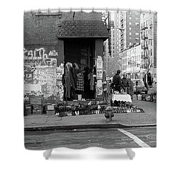 Shower Curtain featuring the photograph East 7th Street 1979 by Dave Beckerman
