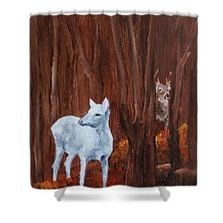 East Aurora Albino Deer,  Shower Curtain