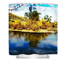 East Bay, Canyon Lake, Ca Shower Curtain