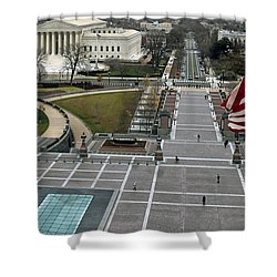 Shower Curtain featuring the photograph East Capitol Street by Mitch Cat