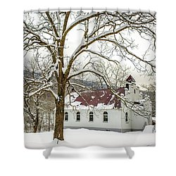 East Chapel Church Shower Curtain