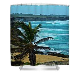 East Coast Bay Shower Curtain