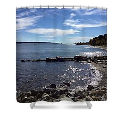 East End Beach Portland, Maine, October 2015 Shower Curtain