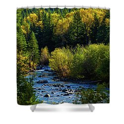 East Fork Autumn Shower Curtain by Jason Coward