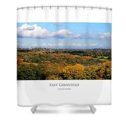 Shower Curtain featuring the digital art East Grinstead by Julian Perry