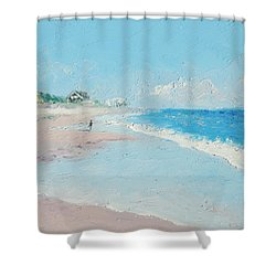 East Hampton Beach Shower Curtain
