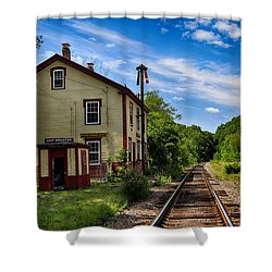 East Kingston Station Shower Curtain by Tricia Marchlik