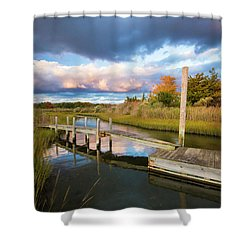 East Moriches Reflections Shower Curtain