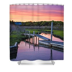 East Moriches Sunset Shower Curtain