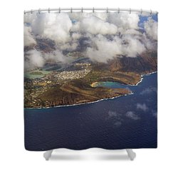 East Oahu From The Air Shower Curtain