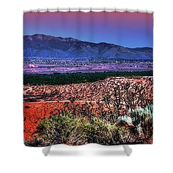 East Of Albuquerque Shower Curtain by David Patterson