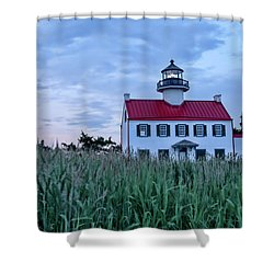 East Point At Twilight Shower Curtain
