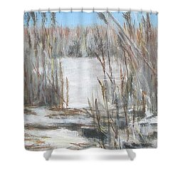 East Point Beach Shower Curtain