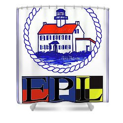 East Point Lighthouse Poster Shower Curtain