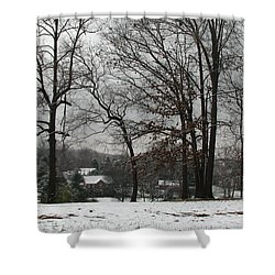 East Tennessee Winter Shower Curtain by Todd A Blanchard