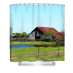 East Texas Barn Shower Curtain