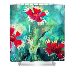East Texas Wild Flowers Shower Curtain