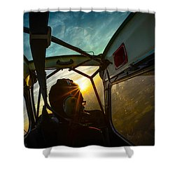 East Towards The Dawn Shower Curtain