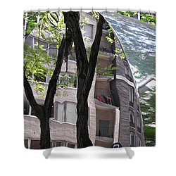 Shower Curtain featuring the photograph East West Gate 4  by Sarah Loft