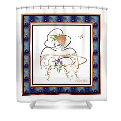 East Wind - Temple Cat Shower Curtain