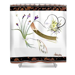East Wind - Unexpected Caller Shower Curtain