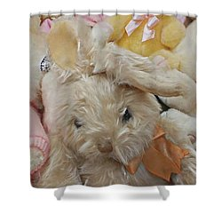 Shower Curtain featuring the photograph Easter Bunnies by Benanne Stiens