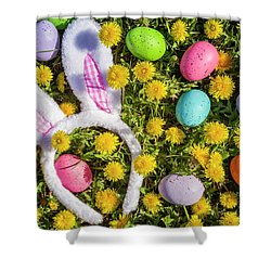 Shower Curtain featuring the photograph Easter Bunny Ears by Teri Virbickis