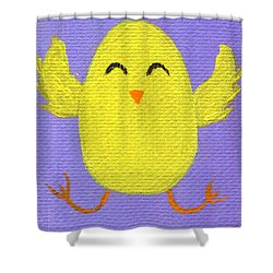 Shower Curtain featuring the painting Easter Chicky by Jamie Frier