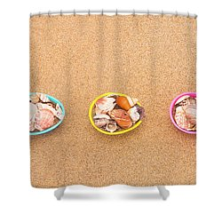 Easter Egg Baskets On Beach Shower Curtain