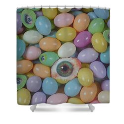 Shower Curtain featuring the mixed media Easter Eyes by Douglas Fromm