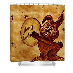 Easter Golden Egg For You Shower Curtain by Georgeta  Blanaru