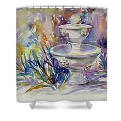 Easter Sketch Shower Curtain by Xueling Zou