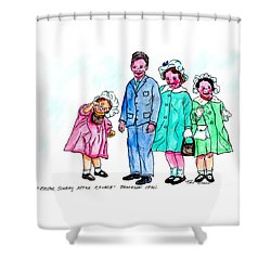 Easter Sunday - After Church Shower Curtain
