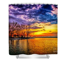 Shower Curtain featuring the photograph Easter Sunset At Riverview Beach Park by Nick Zelinsky