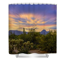 Easter Sunset H18 Shower Curtain by Mark Myhaver